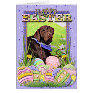 Easter - Chocolate Labrador - Hershey Card