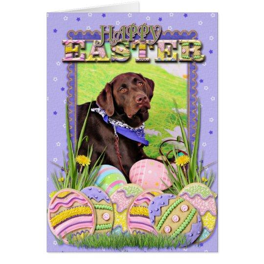 Easter - Chocolate Labrador - Hershey Card