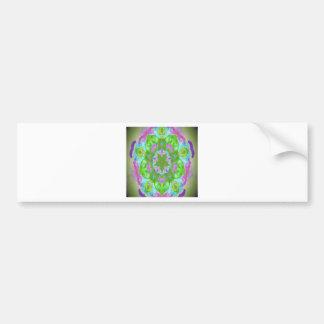 Easter colorful kaleidoscope design image car bumper sticker