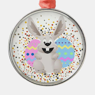 Easter, Colorful, Rabbit, Funny Christmas Ornament