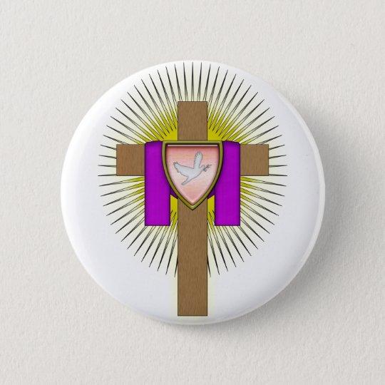 Easter Cross 6 Cm Round Badge