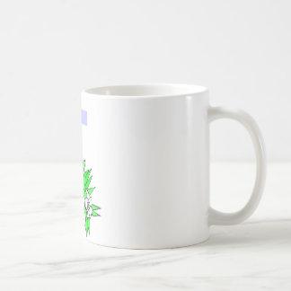 Easter cross and lilies basic white mug