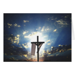 Christian easter gifts gift ideas zazzle uk easter cross card negle Images