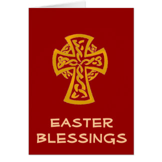 Easter crucifix celtic cross greeting card