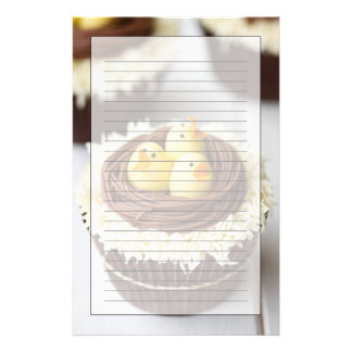 Easter Cupcakes Stationery Design