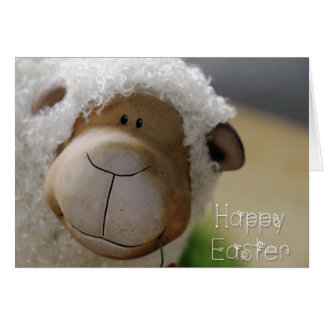 """Easter - Cute Sheep """"Happy Easter"""" All Sizes Greeting Card"""