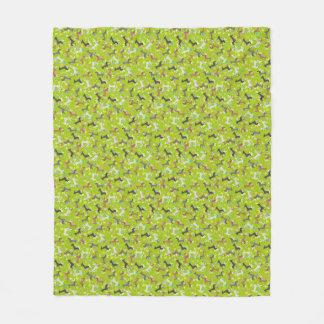 Easter Dachshund (Green) Fleece Blanket