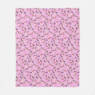 Easter Dachshund (Pink) Fleece Blanket