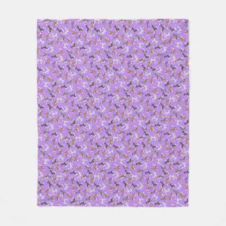 Easter Dachshund (Purple) Fleece Blanket