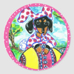 Easter Dachshund Stickers