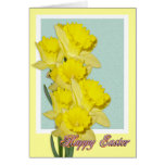 Easter Daffodils greeting card