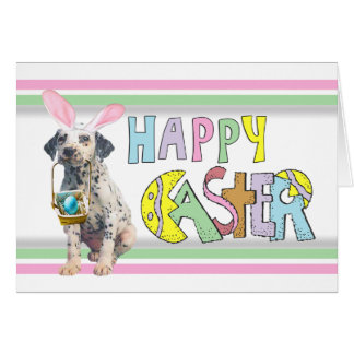 Easter Dalmatian Puppy Note Card