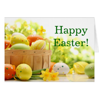 Easter Decoration with Eggs Card