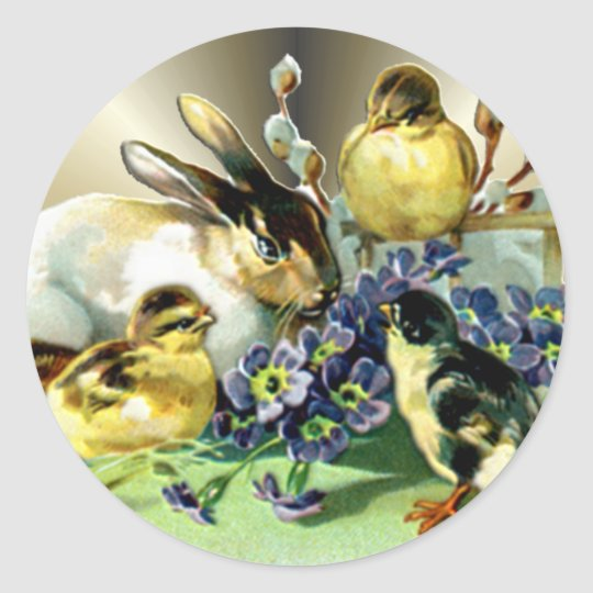 Easter Decorations Paper Gift Products Round Sticker