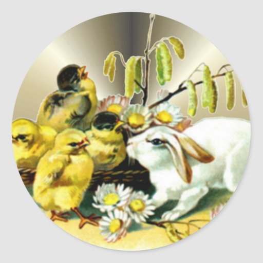 Easter Decorations Paper Gift Products Round Stickers