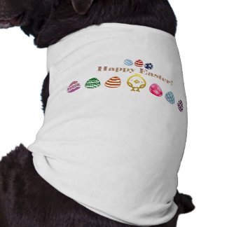 Easter Design Doggie Ribbed Tank Top Sleeveless Dog Shirt