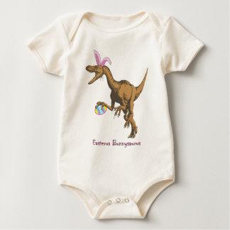 easter dinosaur baby bodysuit