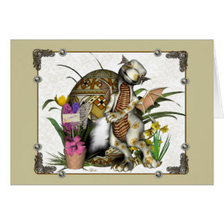 Easter Dragon Baby 2 Greeting Card