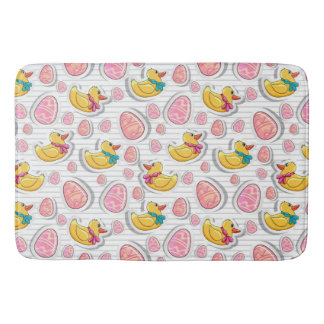 Easter Duck And Eggs Pattern Bath Mat