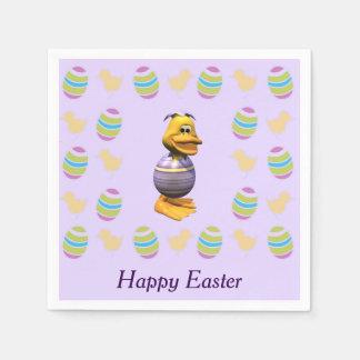 Easter Duck Paper Serviettes