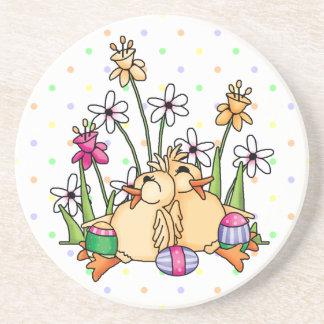 Easter Ducks Sandstone Coaster Coaster