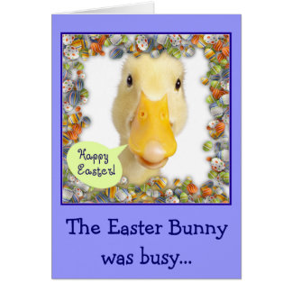 Easter Ducky Note Card