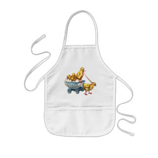easter egg and baby chicks aprons