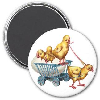 easter egg and baby chicks fridge magnets