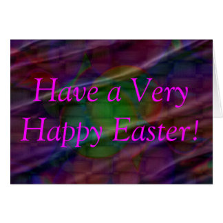 Easter Egg Basket, Have a Very Happy Easter! Greeting Card
