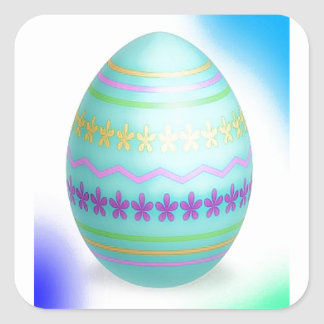 Easter Egg Blues Stickers