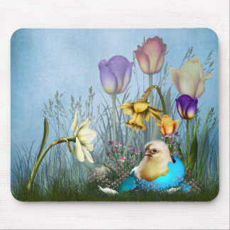 Easter Egg Chicken Mouse Pad