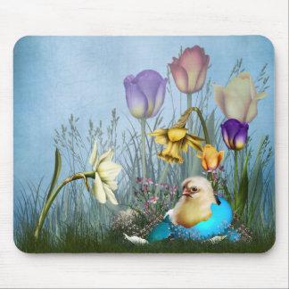Easter Egg Chicken Mousepad