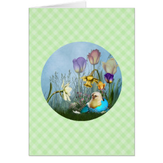 Easter Egg Chicken Note Card