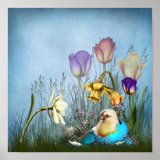 Easter Egg Chicken Poster