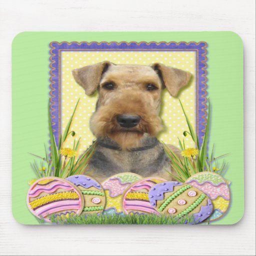 Easter Egg Cookies - Airedale Mouse Pads