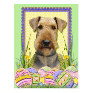 Easter Egg Cookies - Airedale Postcard