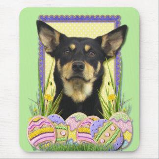 Easter Egg Cookies - Australian Kelpie Mouse Pad