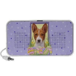 Easter Egg Cookies - Basenji Laptop Speaker