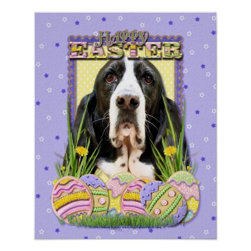 Easter Egg Cookies - Basset Hound - Jasmine Posters