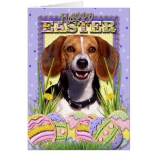 Easter Egg Cookies - Beagle Greeting Card