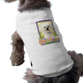 Easter Egg Cookies - Bichon Frise Sleeveless Dog Shirt