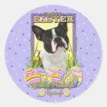 Easter Egg Cookies - Boston Terrier Round Sticker