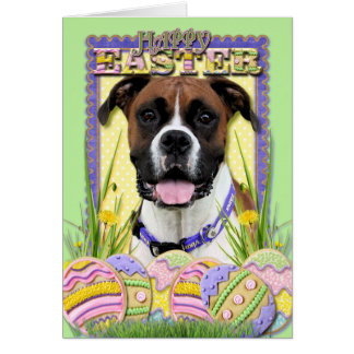 Easter Egg Cookies - Boxer Greeting Card