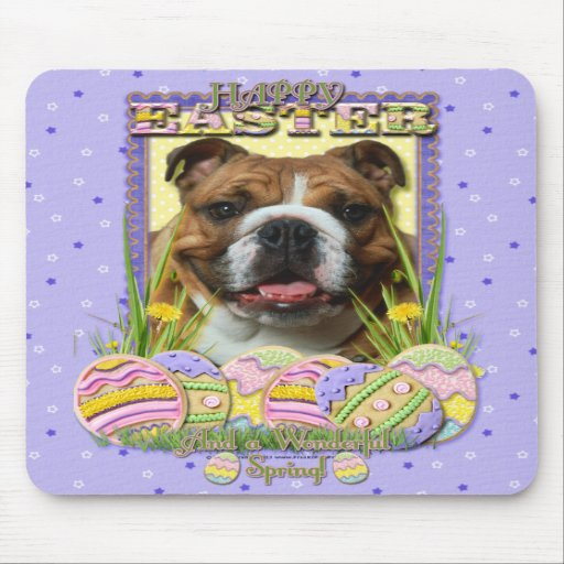 Easter Egg Cookies - Bulldog Mouse Pads