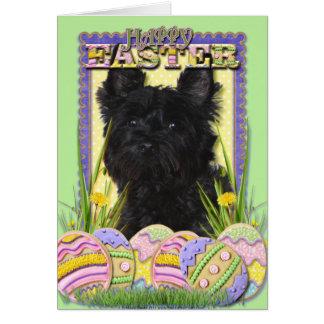 Easter Egg Cookies - Cairn Terrier Greeting Card