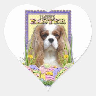 Easter Egg Cookies - Cavalier - Blenheim Heart Sticker