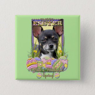 Easter Egg Cookies - Chihuahua 15 Cm Square Badge