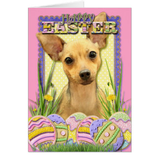 Easter Egg Cookies - Chihuahua - Daisy Greeting Card