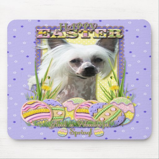 Easter Egg Cookies - Chinese Crested Mousepads