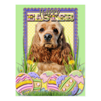 Easter Egg Cookies - Cocker Spaniel Postcard